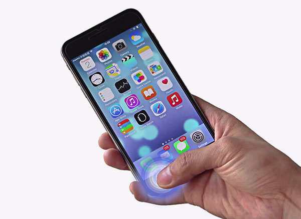 iphone6の全面保護シールのプッシュイメージ
