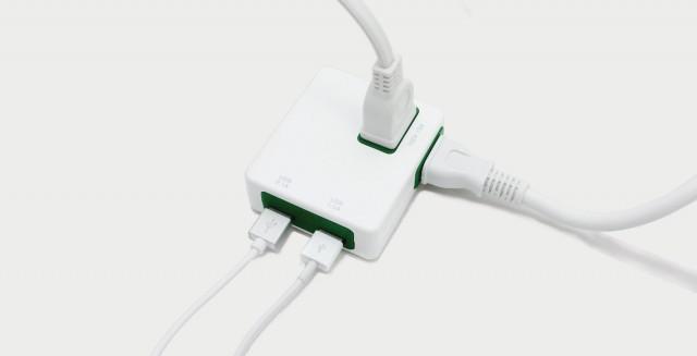 コンセント2口、USB2口電源タップ