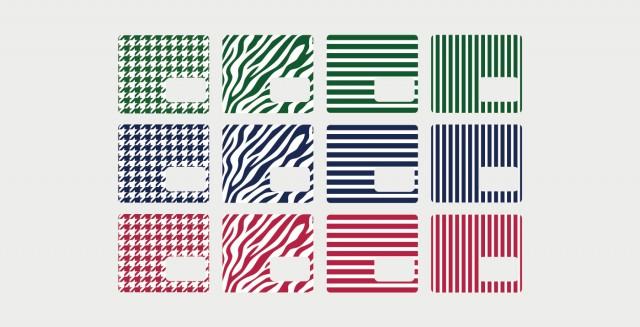 12パターンから選べるスキンシート電源タップNico