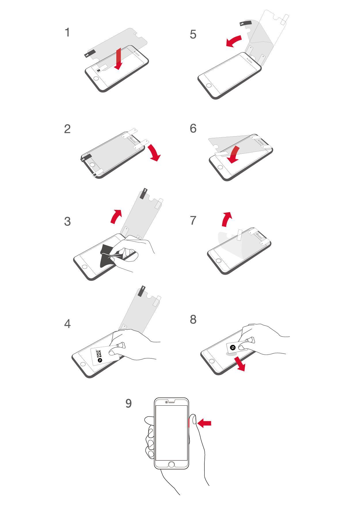 iPhoneを便利にする液晶保護フィルムのヘイローバックの画像16
