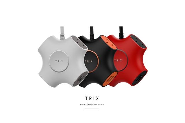 X型のデザインが印象的な電源タップ「TRIX」