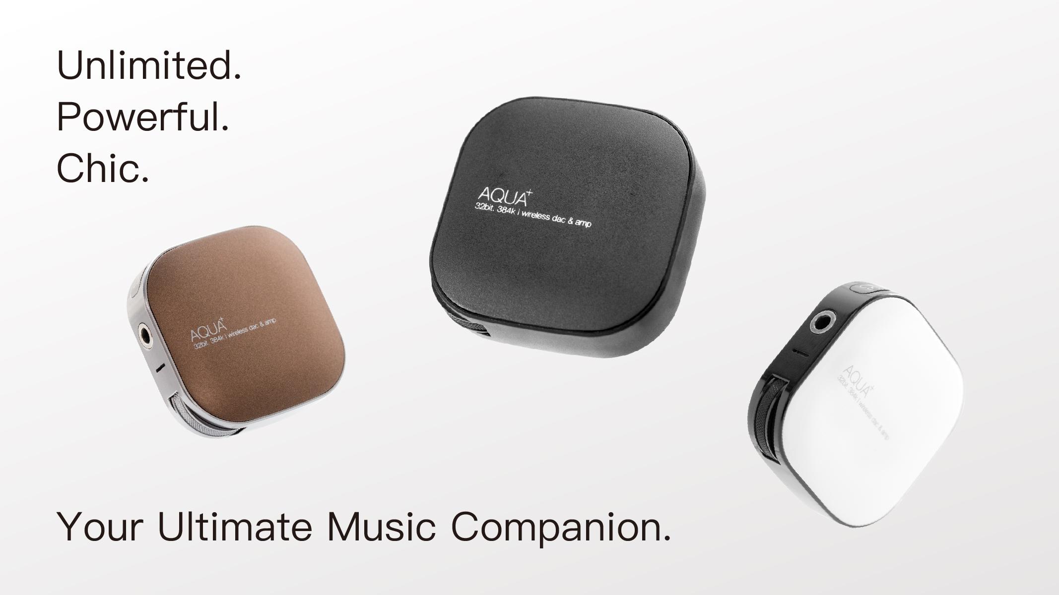 ガジェットのお気に入りのイヤフォンで最高のワイヤレス音楽体験を!32ビットワイヤレスヘッドホンアンプ「AQUA+(アクアプラス)」 #新製品 #イヤフォン #Bluetooth #Hi-Fi #Greenfunding #jpt