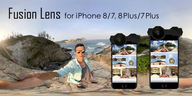 ガジェットの【新商品】本日公開!iPhoneに装着するだけ!簡単に360度撮影ができる「Fusion Lens」 #新製品 #360°カメラ #iPhone #insta360 #ガジェット #Makuake #jpt