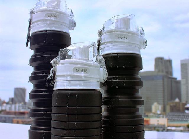 ガジェットの畳めてコンパクト、落としても割れないシリコン製水筒「AQUA_hack」【新商品】 #水筒 #マイボトル #エコ #節約 #畳める #モノトーン #おしゃれ