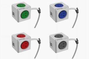 4色選べるUSB付きコンセント電源タップ