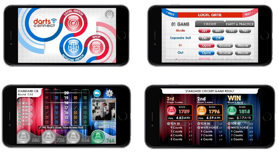 IoTダーツボード「ダーツコネクト」アプリ