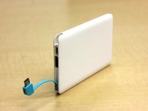 充電ケーブル一体型スマホ充電バッテリー「FirstRunner」
