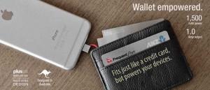 財布・定期入れに入るスマホ充電バッテリー「LIFECARD」