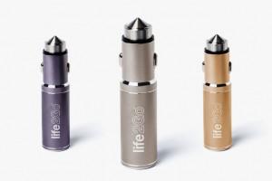 3色選べるバッテリー内蔵USBカーチャージャーLIFE2GO
