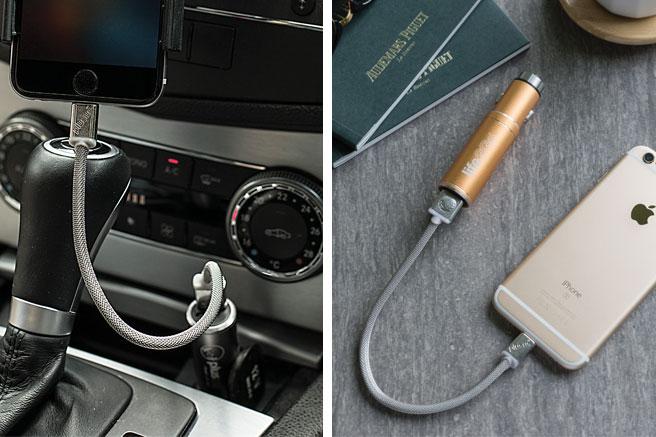 車内でも車外でも使えるバッテリー内蔵USBカーチャージャーLIFE2GO