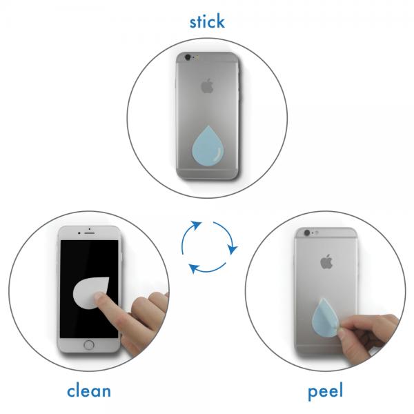 スマホに貼り付けて持ち運べるスクリーンクリーナー「DUSTI」使い方